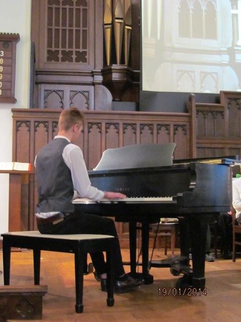 Tyler Dillman at the piano