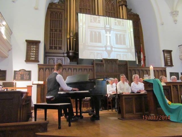 Tyler Dillman and choir