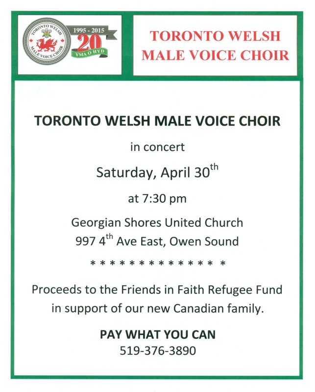 Welsh Choir Concert April 30 2016